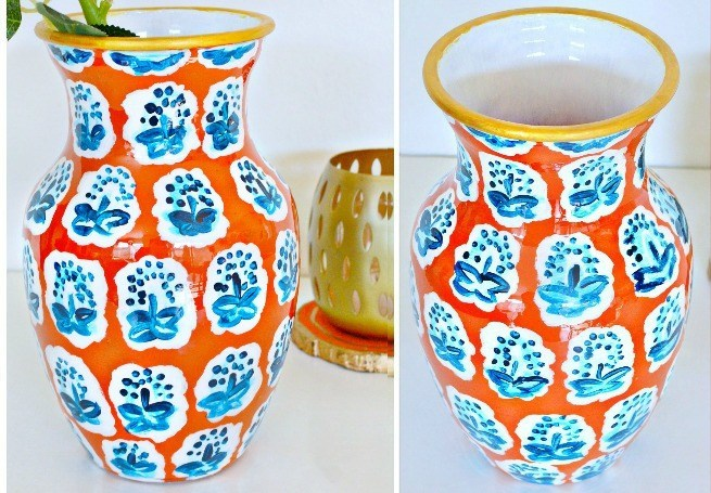 Anthropologie Knock Off Vase - Delicious And DIY