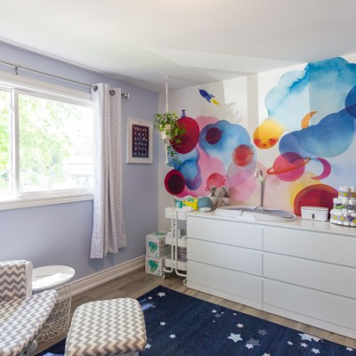 Space Theme Nursery Reveal