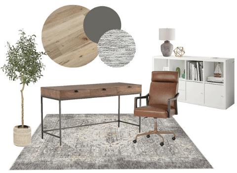 Home Office E-Design Mood Board