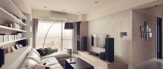 Beautiful Contemporary Narrow Living Room
