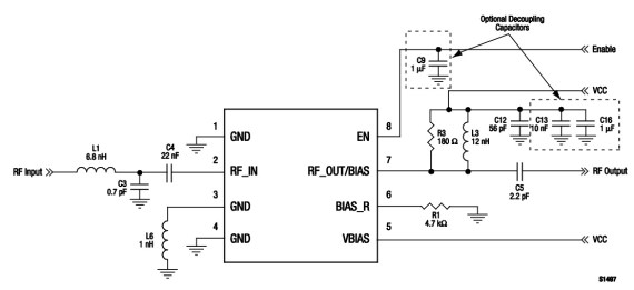 915 MHz evaluation circuit