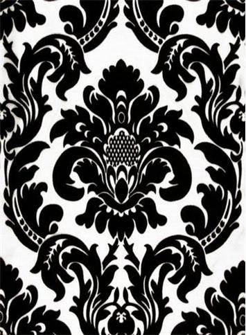 Dior Damask Black White Drapery Fabric