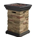 """Christopher Knight Home Troy Outdoor 19"""" Liquid Propane Fire Column"""