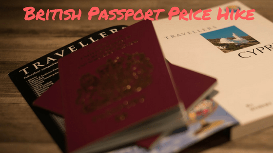 british passport price increase