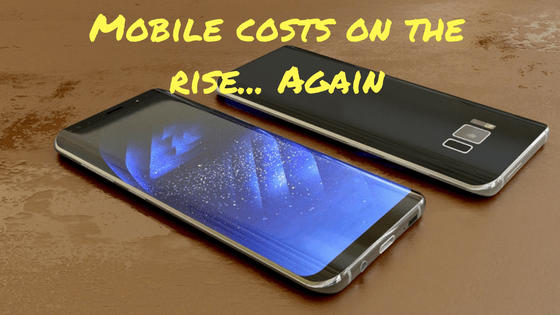 mobile phone price rise