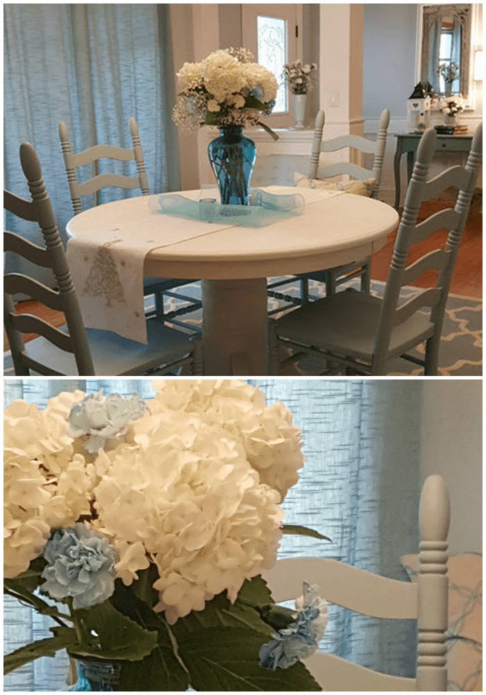 Charming Farmhouse Style Makeover in Robin's Egg Blue and Cotton White - Housekaboodle.com