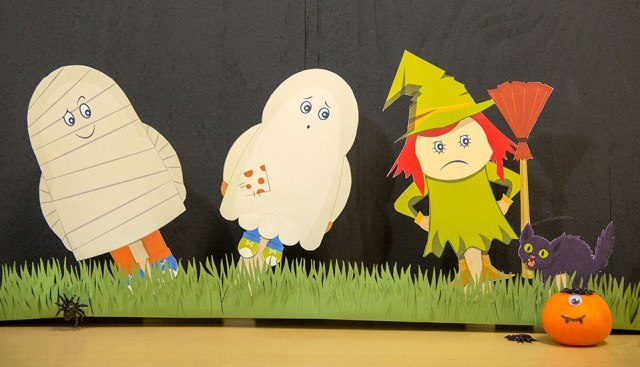 printable halloween puppets