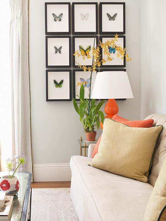 15 idee low cost per decorare le pareti vuote di casa - Farfalle decorative per pareti ...