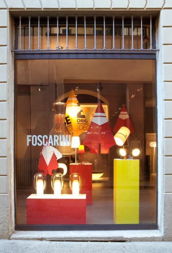 Foscarini Spazio Brera_Christmas 2013_window