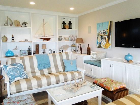 Arredamento in stile marino come portare la costa in soggiorno - Soprammobili per soggiorno ...