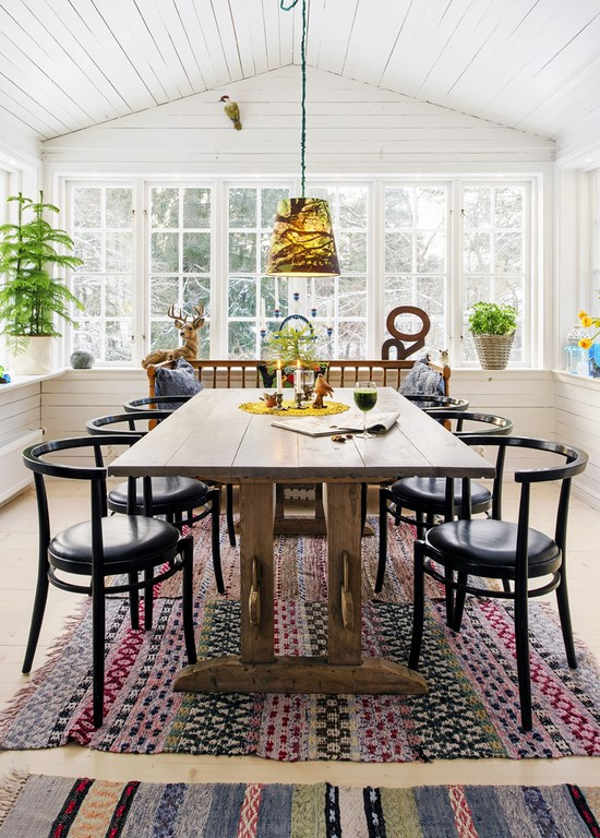 Arredamento nordico e idee per la sala da pranzo for Pianta della sala da pranzo