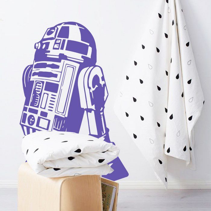 R2D2 wall art sticker bagno living star wars