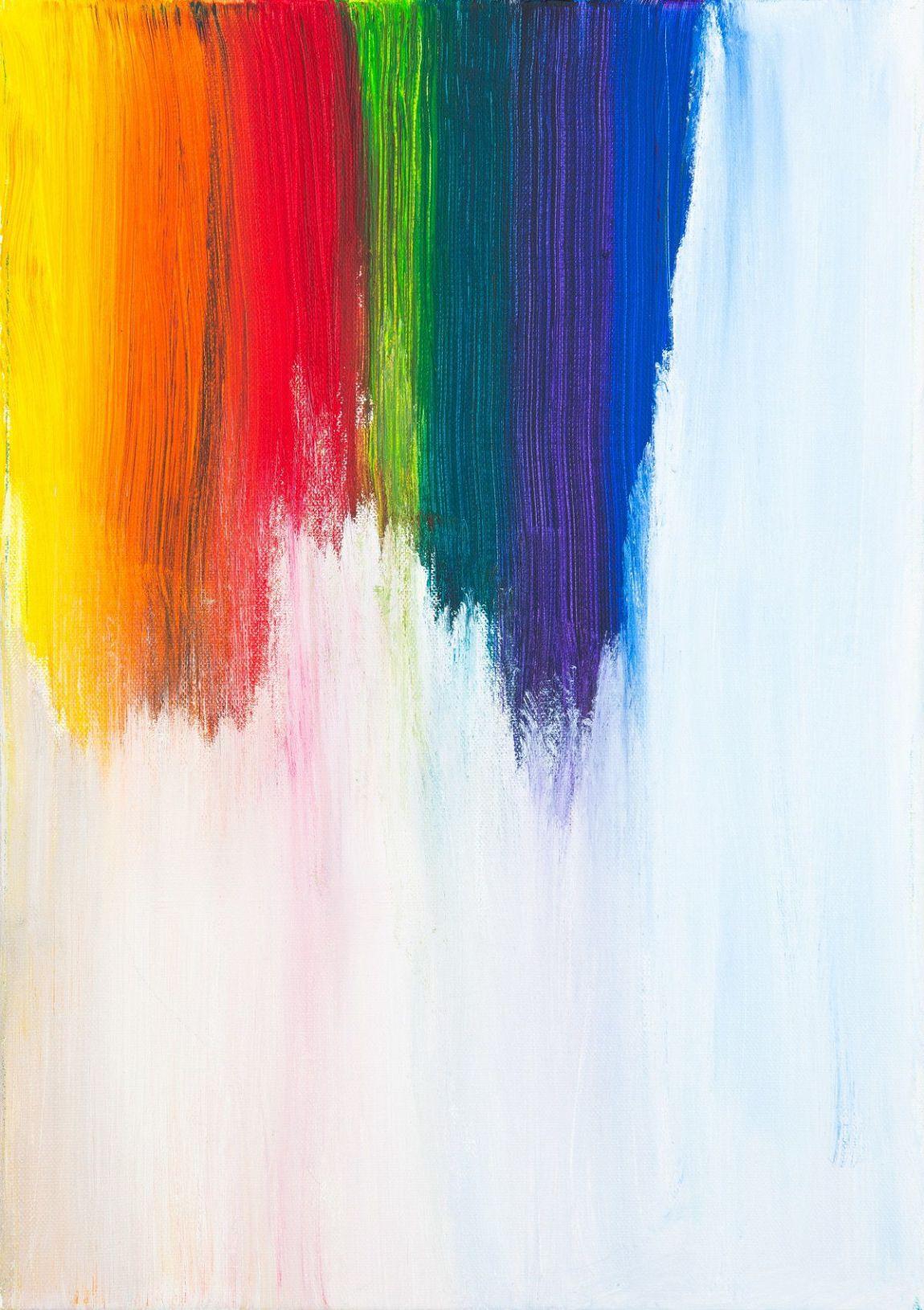 quadro fai da te pennellate colorate
