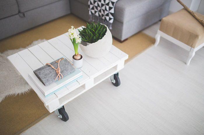 tavolino living bianco