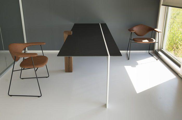 tavolo sala riunioni hi-macs inox fond
