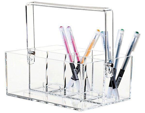 Set contenitori da scrivania Clear
