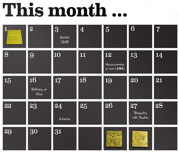 Sticker Calendrier