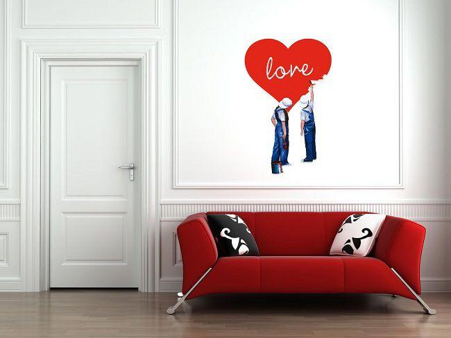 adesivo murale san valentino