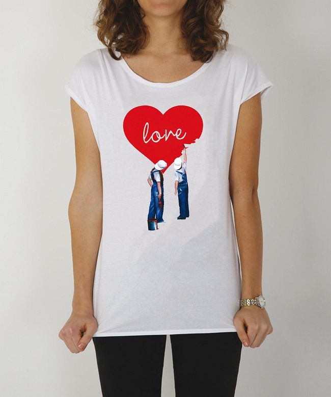 t-shirt con cuore san valentino aaart
