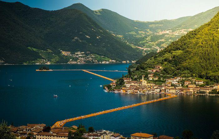 the floating piers emanuele di donna vista alto