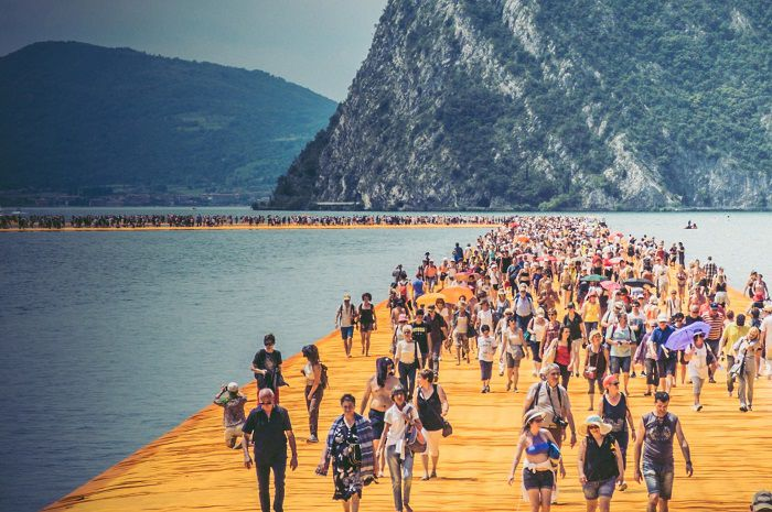 the floating piers emanuele di donna