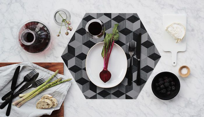 Nordic Design Collective Polygon Placemat Grap
