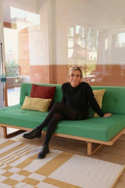 Francesca Gatti nel suo showroom Danord