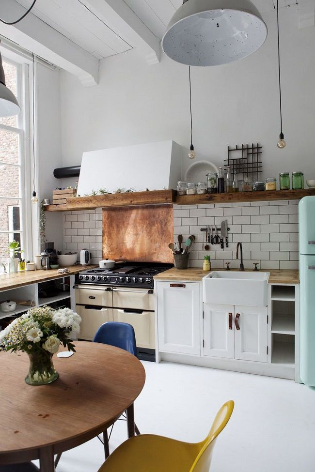 Cucina in stile industrial