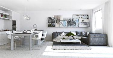 casa studio in bianco