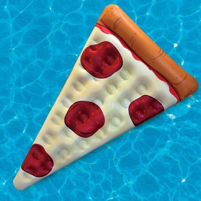 materassino a forma di pizza