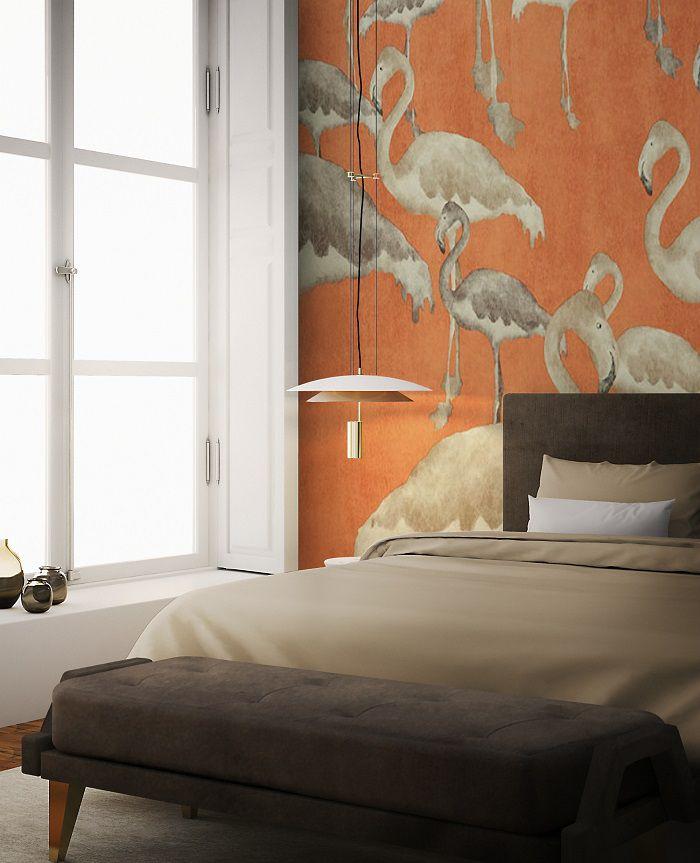 Tendenze camera da letto 2018 arreda con la carta da parati - Camera da letto con carta da parati ...