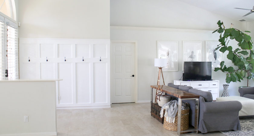 100 board and batten entryway with