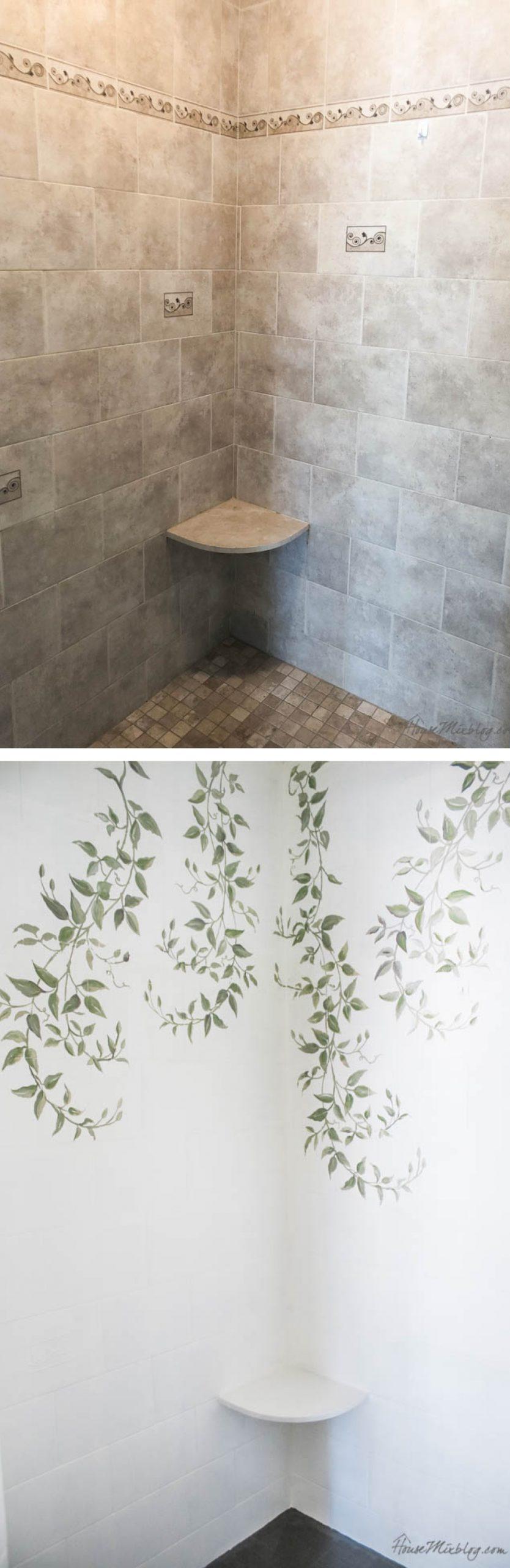 how to paint bathroom tile floor