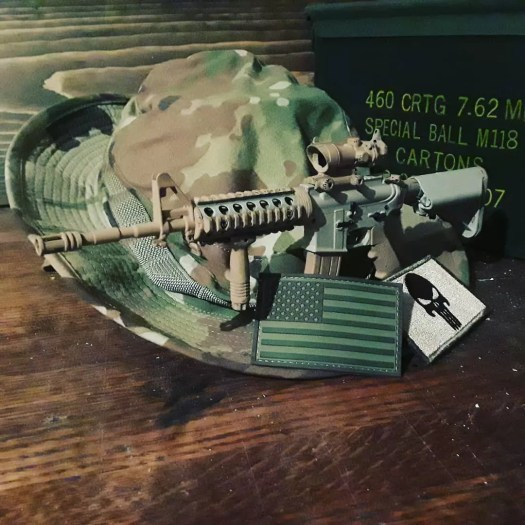 Goatguns replica AR15 by old school boonie hat.