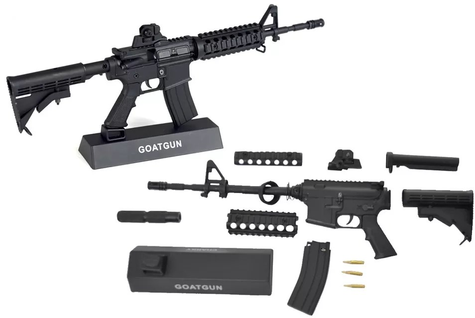 Goatguns AR 15 replica assembled and disassembled versions