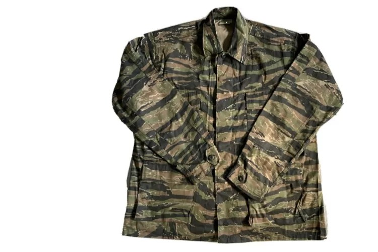 A reproduction tigerstripe jacket that, apart from the age, is almost identical to those made in the country decades ago. If anything the quality of the reproductions is often superior to the originals! (Photo: Private Collection)