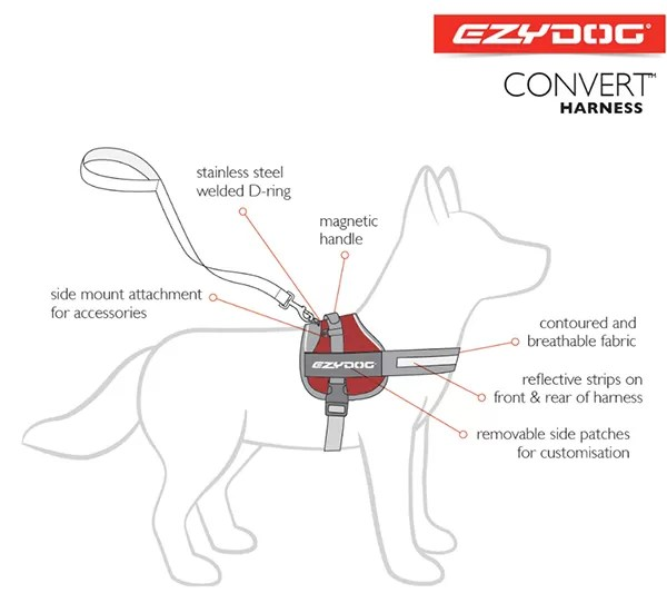 EzD service dog harness and backpack
