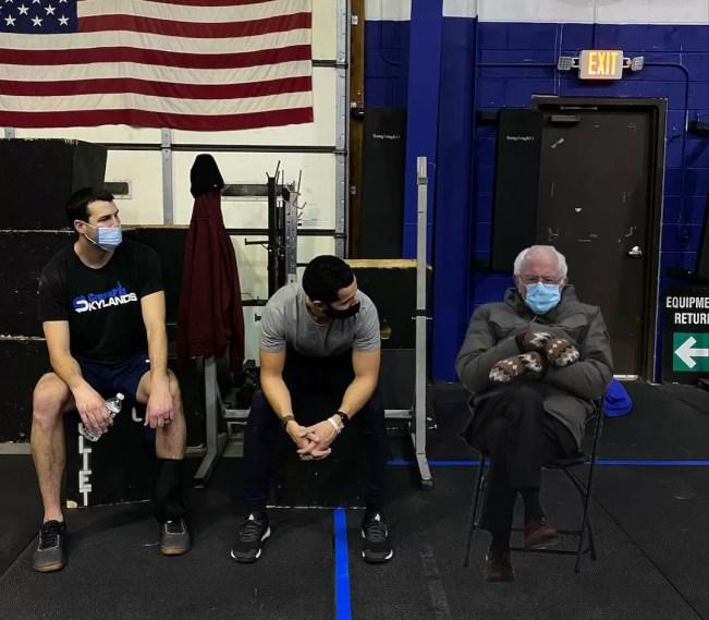 Bernie at the gym