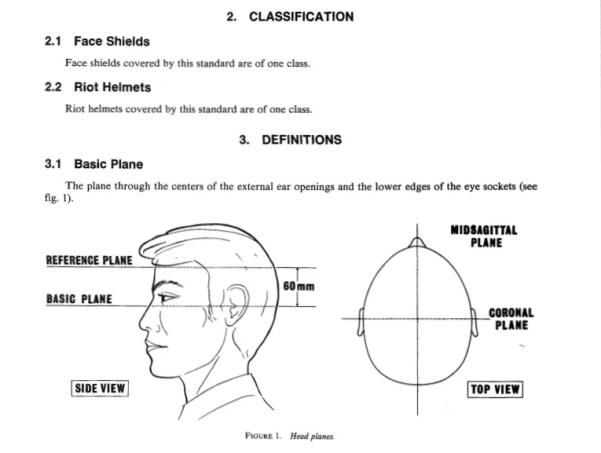 Riot helmet classification