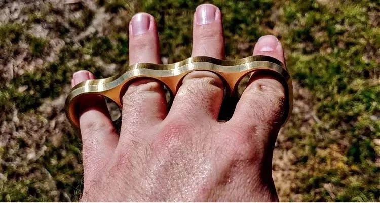 Empire Tactical knucks on the open hand.