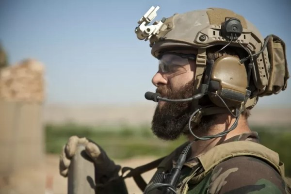 Special Forces helmet deployed