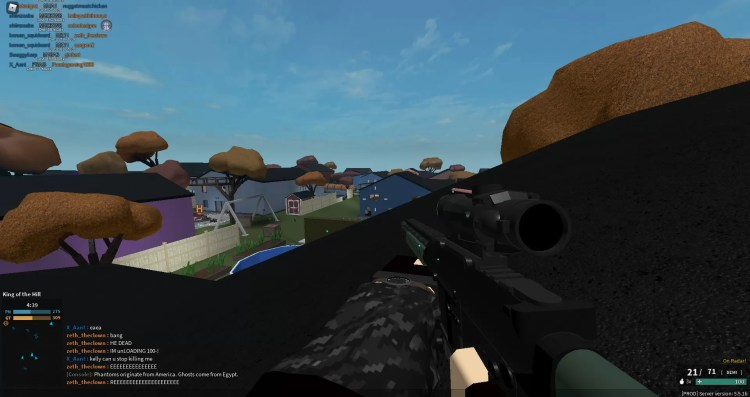 Phantom Forces guns scoping in 3