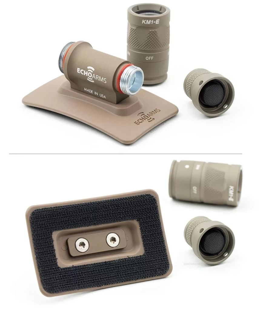 Echo Arms tactical helmet accessory mounting kit.