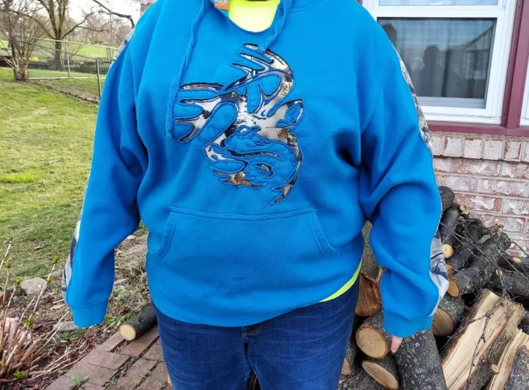 Legendary Whitetails Realtree hoodie, Liberty blue.