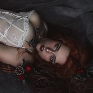 @felvae redhead cosplayer in lingerie