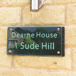 Large Glass Name & House Number Plaques 01