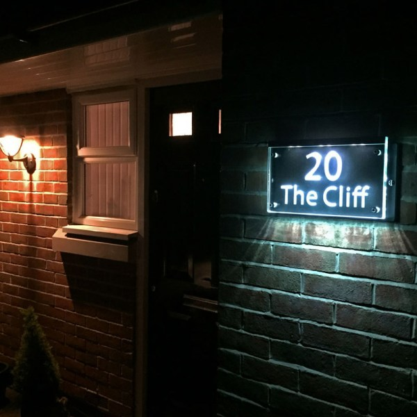 Illuminated House Number Plaques 01