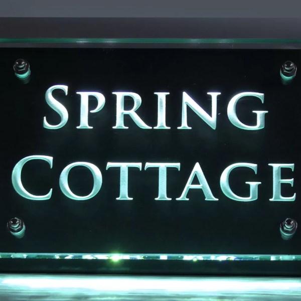 Spring Cottage - Illuminated house name sign