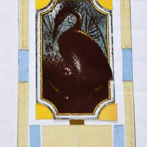 Proposed layout glass design new antique glass right hand door panel