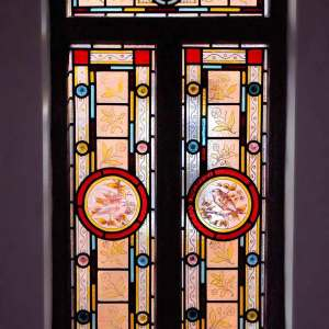 Restored Manufactured Completed Installed Traditional Victorian Stained Glass